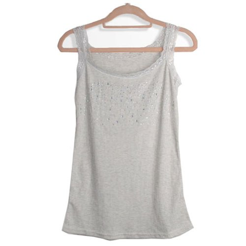 NEEWER®Womens Sequin Lace Tank Top Sleeveless Shirt Vest Girl Waistcoat Sling Camisole (Grey)