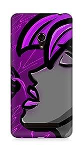 AMEZ Purple Punk Back Cover For Asus Zenfone 5