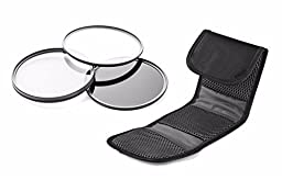 Sony Alpha NEX-7 High Grade Multi-Coated, Multi-Threaded, 3 Piece Lens Filter Kit (62mm) Made By Optics + Nwv Direct Microfiber Cleaning Cloth.