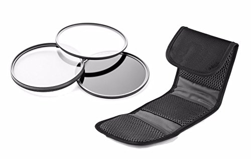 Canon XC10 High Grade Multi-Coated, Multi-Threaded, 3 Piece Lens Filter Kit (58mm) Made By Optics + Nw Direct Microfiber Cleaning Cloth.