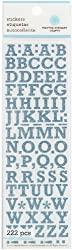 Martha Stewart Crafts Small Glitter Alphabet, Blue