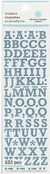 Martha Stewart Crafts Small Glitter Alphabet, Blue