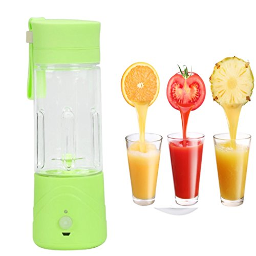Best Buy! Portable Lightweight Personal Juicer Smoothie Blender Maker (Green)