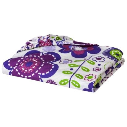 Bacati - Botanical Sanctuary Floral Multicolor Purple Printed Sheet