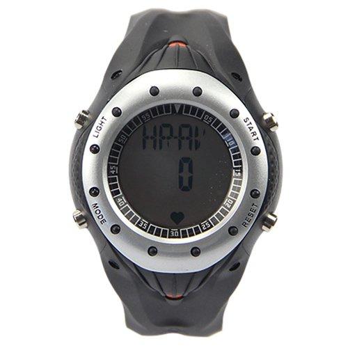 Alike Upscale Digital Electronic Waterproof Heart Rate Waistband Sport Watch Silver