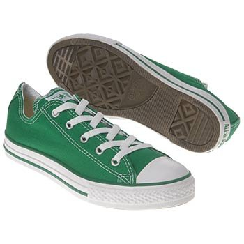 Converse Chuck Oxford Infant Baby Boys SZ 12 Green Athletic Sneakers Shoes