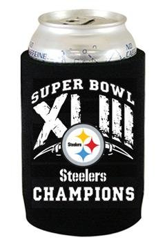 Pittsburgh Steelers Super Bowl XLIII Champions Can Koozie at Steeler Mania