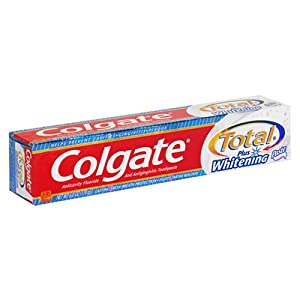Colgate Total Whitening Paste, Anticavity Fluoride and Antigingivitis Toothpaste, Paste, 6 oz (170 g)