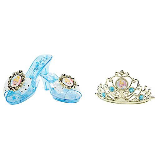 Disney Princess Cinderella Enchanted Evening Shoes and Tiara Set