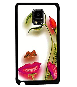 Fuson Premium Floral Girl Metal Printed with Hard Plastic Back Case Cover for Samsung Galaxy Note Edge N9150