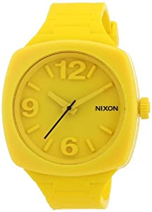 Nixon Damen-Armbanduhr The Dial Goldenrad Analog Quarz Silikon A265639-00