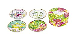 Lilly Pulitzer Ceramic Coaster Set, Cheers! (161608)
