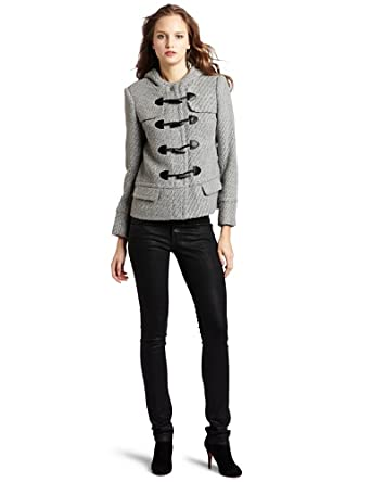 Kensie Women's Textured Solids Jacket, Sterling Grey Mix, X-Small