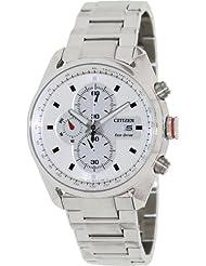 Citizen Eco-Drive Analog White Dial Men's Watch CA0360-58A