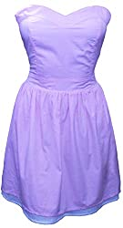 Attuendo Women's Seersucker Tube Dress (Small)