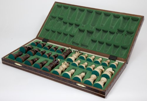 Ambassador Handmade Wooden Chess Set w/ 21 Inch Board and Detailed Chessmen 3