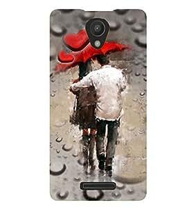 PrintVisa Romantic Love Rains Couples 3D Hard Polycarbonate Designer Back Case Cover for Xiaomi Redmi 3S