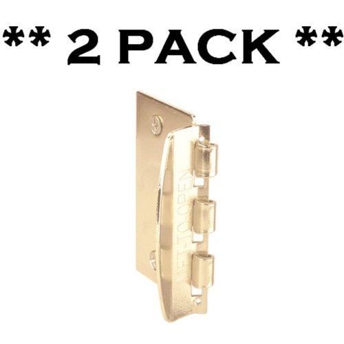Door Flip Lock for Child Safety from PrimeLine - Brass / Gold Color (2 pack)