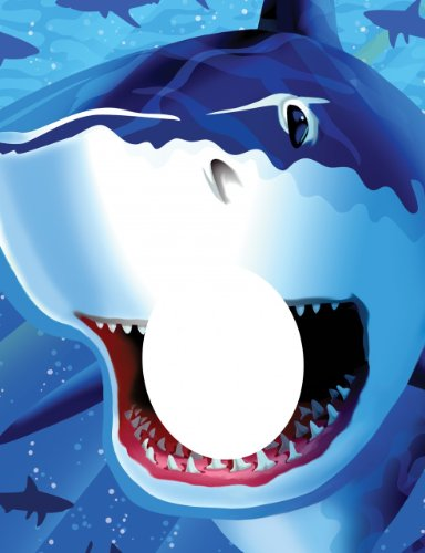 Creative Converting Shark Splash Photo Opportunity Poster - 1