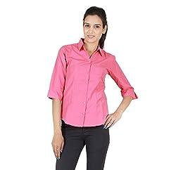 ZX3 Women's Poly Cotton Shirt(Shirt_1012_XL, Carrot, X-Large)