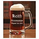 Personalize Beer Mug 12.5oz Groomsman/Wedding Favors Mug - Free Engraving
