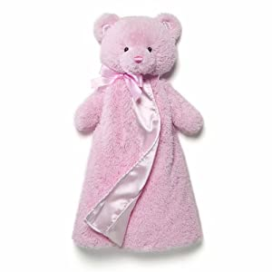 Gund Baby Gund My 1st Teddy Huggybuddy Blanket, Pink