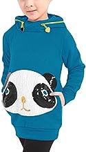 Allegra Kids Girls Long Sleeve Paillette Cartoon Panda Hoodie