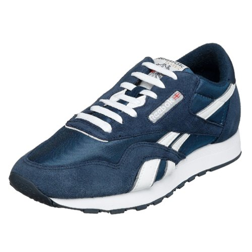 Reebok Men's Classic Sneaker, Team Navy/Platinum,