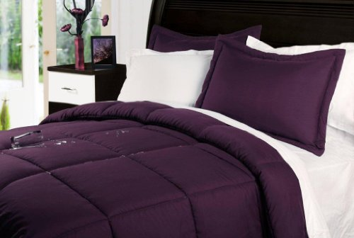 Stayclean Comforter Set, Twin, Fig front-597840