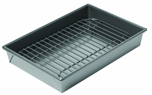 Chicago Metallic 26639 Nonstick Petite Broil & Roast Pan (Oven Rack Small compare prices)