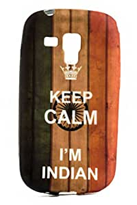 Purple Eyes Fashion Printed Silicon Back Case for Samsung Galaxy S Duos S7562 Keep Calm