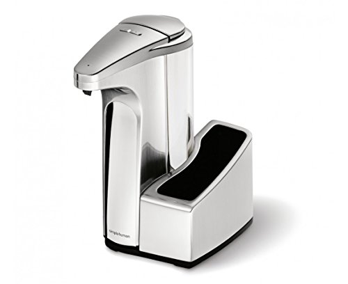 simplehuman 13 oz. Sensor Pump with Caddy, Brushed Nickel (Touchless Sensor Pump compare prices)