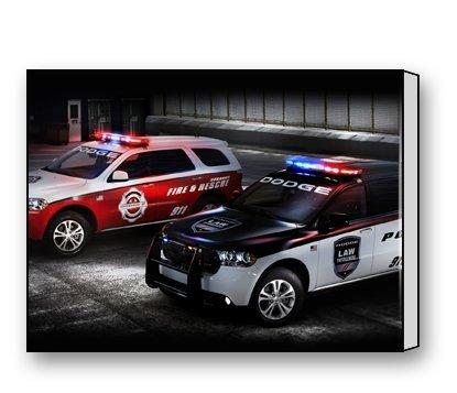 naihe-custom-modern-wall-art-home-decor-canvas-prints-dodge-durango-police-and-fire-rescue-cars