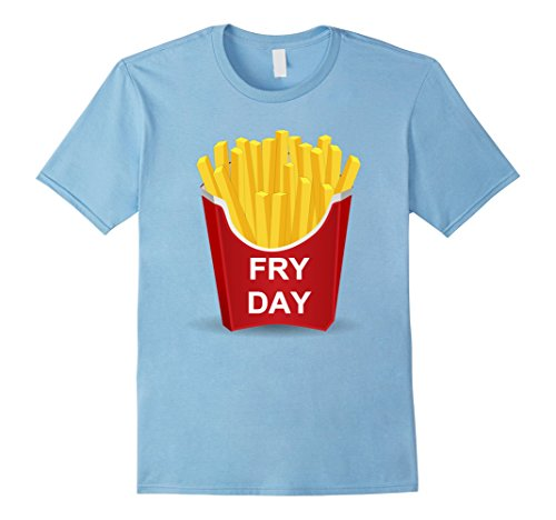 Men's Fry Day Shirt Fryday French Fry Shirt Medium Baby Blue (French Fry Tshirt compare prices)