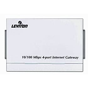 Leviton 47611-GT4 Internet Gateway Router, White