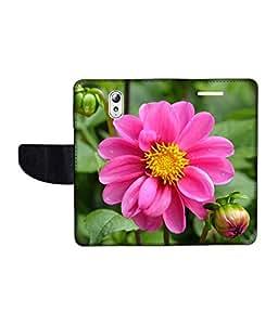 KolorEdge Printed Flip Cover For Lenovo Vibe P1M Multicolor - (1478-50KeMLogo11258LenovoP1M)