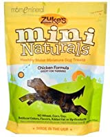 Mini Naturals, Healthy Moist Miniature Dog Treats, Chicken Formula, 6 oz (170 g) by Zuke's