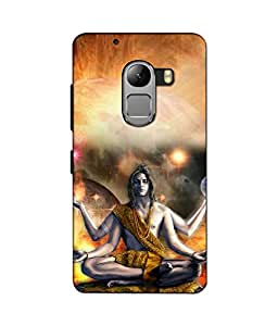 Crazymonk Premium Digital Printed 3D Back Cover For Lenovo A7010