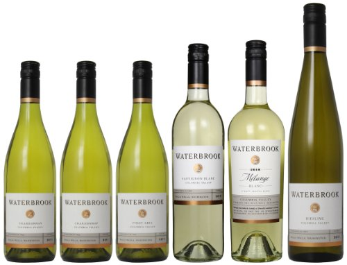 Springtime Sippers: Waterbrook White Wines Mixed Pack, 6 X 750 Ml