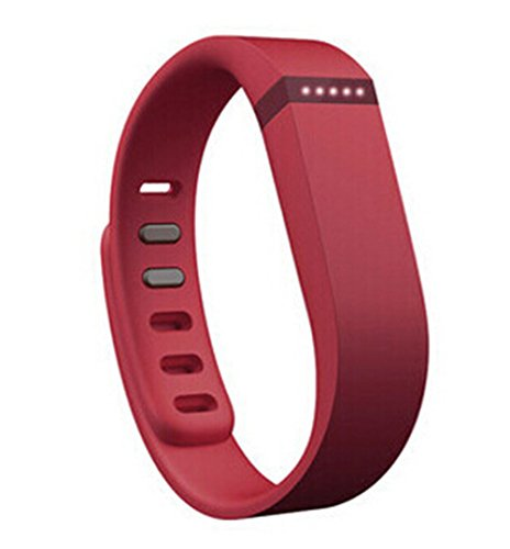 Fitbit Flex Wireless Activity + Bluetooth Sleep Wristband Health Management Smart Watches for IOS and Android (Red)