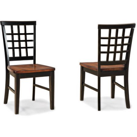 Set Of 2 Beautiful Solid Hardwoods Imagio Home Arlington Lattice Back Dining Chairs, Black and Java (Cool Dining Set compare prices)