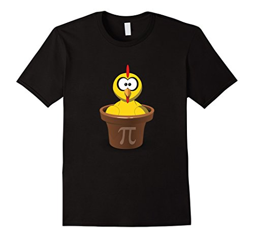 Mens-Chicken-Pot-Pi-Pie-Funny-Math-Nerd-T-Shirt-Unisex-Small-Black