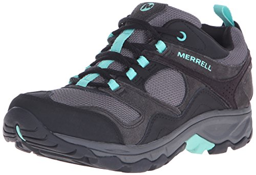 Merrell Women's Kimsey Hiking Shoe,Black/Green,7 M US