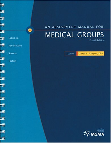 Assessment Manual for Medical Groups: