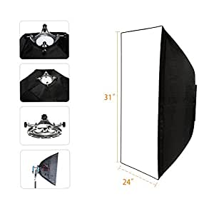 Amazon.com : Top-Fotos Photography Umbrella Rectangle Type Softbox 24