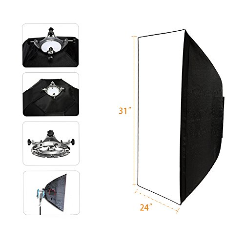 Top-Fotos Photography Umbrella Rectangle Type Softbox 24