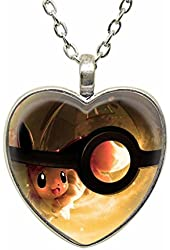 Pokeball Pokemon Necklace Pokemon Pendant Jewelry Charm Custom Picture Fashion Christmas Gift Necklace