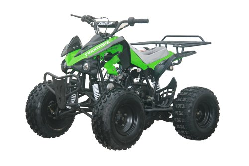 "125cc Sports ATV 8"" Tires with Reverse, Green"