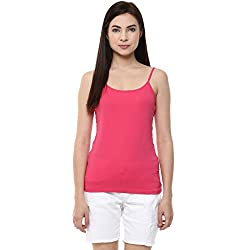 Ajile by Pantaloons Women's Casual Solid Camisole (205000005573155_Raspberry Pink_ XL)