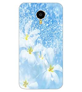 ColourCraft Lovely Flowers Design Back Case Cover for MEIZU M3 NOTE